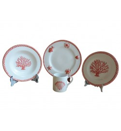 CORAL DINNERWARE (16 PIECE SET)