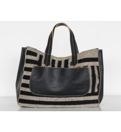 ALBÁN STRIPED HANDBAG