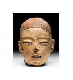 "Polychromed ""Childs Face"" Head /NATIONAL MUSEUM OF ANTHROPOLOGY"