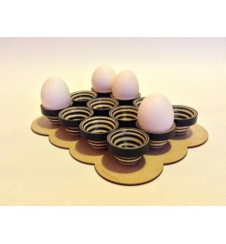Serpentina B&W EGG HOLDER
