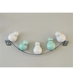 BIRDS ON A WIRE CRUET SET/MINT COLOR